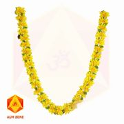 Yellow flower Garland with leaves