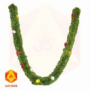 Green Leaf type Garland with Multi color Flower inserts