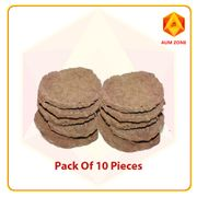 Cow Dung Cakes-Pack of 10 pieces-4.5 Inches(Approximate)