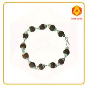 Rudraksha Bracelet With Silver Plated Capping