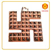 Swastik Pyramid Yantra In Copper