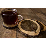 Hand-crafted Wooden Coasters - Set of Four
