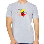 Hemmeya kannadiga grey colour round neck kannada tshirt
