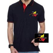 Hemmeya kannadiga Black colour Polo With Red Tipping kannada tshirt,