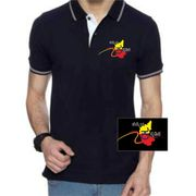 Hemmeya kannadiga Navy Blue colour Polo With White Tipping kannada tshirt,