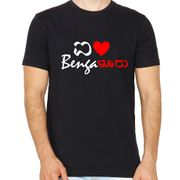 I Love Bengaluru Black colour round neck tshirt