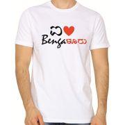 I Love Bengaluru White colour round neck tshirt