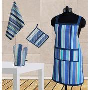 Stripe Apron Combo. Set of 4 Pcs by Dekor World (MORE COLOR)