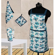 Floral Apron Combo. Set of 4 Pcs by Dekor World (MORE COLOR)