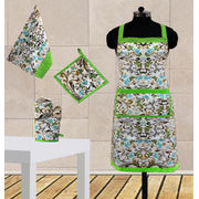 Bird Fun Printed Apron (Set of 4 Pcs) by Dekor World