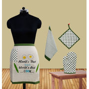 World's Best Dad Bistro Apron (Pack of 4) by Fun Club