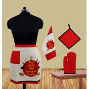 Keep Calm And Carry on Cooking Bistro Apron (Pack of 4) by Fun Club