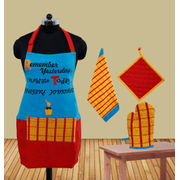 Remember Yesterday Apron (Pack of 4) by Fun Club