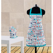 Mom Love Printed Apron Set(Pack of 2 Pc) by Dekor World (MORE COLOR)