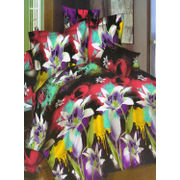 Multi Floral Printed Bedsheet W/Pillow Cover-Pack of 3 Pcs by Dekor World