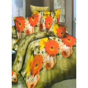 SunFlower Printed Bedsheet W/Pillow Cover-Pack of 3 Pcs by Dekor World