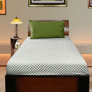 Polka Dot Cotton Printed Single Bedsheet W/ Pillow Cover-Pack of 3 Pcs  by Dekor World (MORE COLOR)