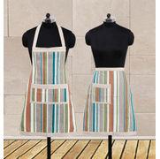 Stripe Fun Apron Set (Pack of 2 Pcs) by Dekor World (MORE COLOR)