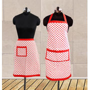 Polka Dot Apron Combo. (Pack of 2 Pc) by Dekor World (MORE COLOR)
