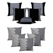 Dekor World Ultima Silver Combo. Cushion Cover(Pack of 10 Pcs)