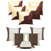 Dekor World Ultima Brown Combo. Cushion Cover(Buy5Get5)