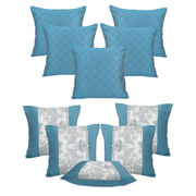 Dekor World Floral Printed Combo. Cushion Cover (Buy5Get5)