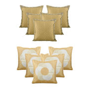 Dekor World Beige Bonanza Combo. Cushion Cover (Buy5Get5)