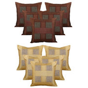 Dekor World Checks Combo. Cushion Cover (Buy5Get5)