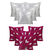 Dekor World Ultima Purple Silve Combo. Cushion Cover (Buy5Get5)