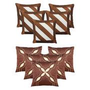 Dekor World Brown Emboridery Combo. Cushion Cover