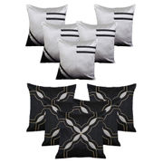 Dekor World Black Emboridery Combo. Cushion Cover