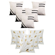 Dekor World Cream Emboridery Combo. Cushion Cover