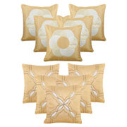 Dekor World Beige Emboridery Combo. Cushion Cover