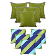 Dekor World Green Emboridery Combo. Cushion Cover