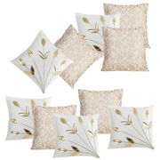 Dekor World Cream Delight Combo. Cushion Cover (Pack of 10)