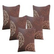 Circular Leaf Pattern Cushion Cover (Pack Of 5)(More Color)