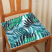 Go Green Printed Cotton Chair Pad (pack of 1)