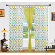 Multi Car Printed Cotton Loop Curtain Set (Pack of 3)by Dekor World