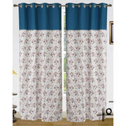 Cotton Floral Printed Curtain Set (Pack of 2 Pcs)by Dekor World (More Colour)