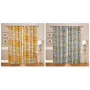 Cotton Tie & Dye Curtain (Pack of 2)by Dekor World (More Colour)