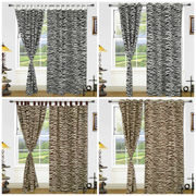 Cotton  Black White Eyelet Printed Curtain Set (Pack of 2)by Dekor World (More Colour)