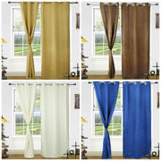 Beige Blackout Eyelet Curtain Set (Pack of 2)by Dekor World (More Colour)