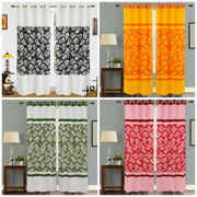 Cotton Floral Printed Curtain Set (Pack of 2 Pcs)by Dekor World (More Colour)