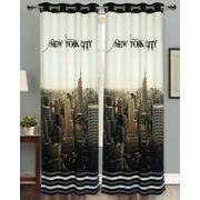 New York City Digital Printed Blackout Curtain Set (Pack of 2 Pcs)by Dekor World