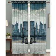 London Bridge Digital Printed Blackout Curtain Set (Pack of 2 Pcs)by Dekor World