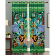 Jungle Fun Digital Printed Blackout Curtain Set (Pack of 2 Pcs)by Dekor World