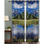 Nature Valley Digital Printed Blackout Curtain Set (Pack of 2 Pcs)by Dekor World