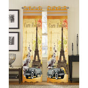 Carte Digital Printed Blackout Curtain Set (Pack of 2 Pcs)by Dekor World