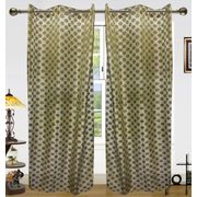 Zari Circle Sheer Curtain(Pack of 2) by Dekor World (More Colour)