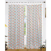 Bird Printed Cotton Loop Curtain Set (Pack of 2 Pcs)by Dekor World